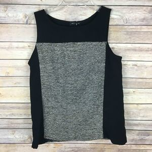 The Limited Tank Top Small Black Tweed